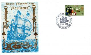 15 August 1970 Mayflower Thames Commemorative Cover Southampton Shs photo