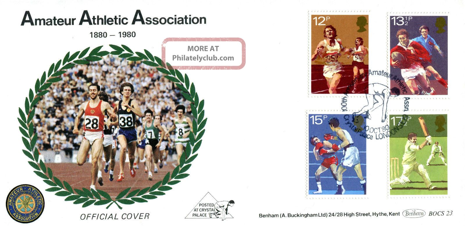 10 October 1980 Sport Centenaries Benham Bocs 23 First Day Cover Aaa London Shs Topical Stamps photo