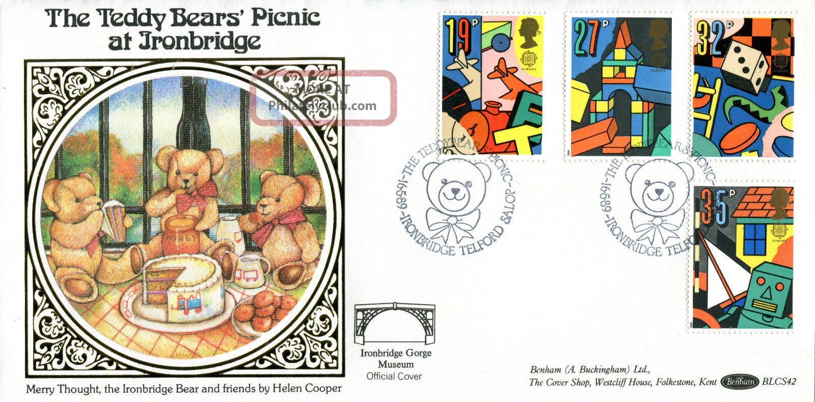 16 May 1989 Toys And Games Benham Blcs 42 First Day Cover Teddy Bear Picnic Shsa Topical Stamps photo