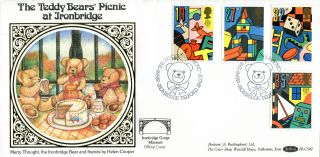 16 May 1989 Toys And Games Benham Blcs 42 First Day Cover Teddy Bear Picnic Shsa photo