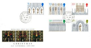 14 November 1989 Christmas Royal Mail First Day Cover House Of Commons Sw1 Cds photo