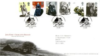 24 February 2005 Jane Eyre Royal Mail First Day Cover Haworth Parsonage Shs photo