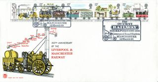 12 March 1980 Liverpool & Manchester Railway Stuart Fdc Exposition Shs photo