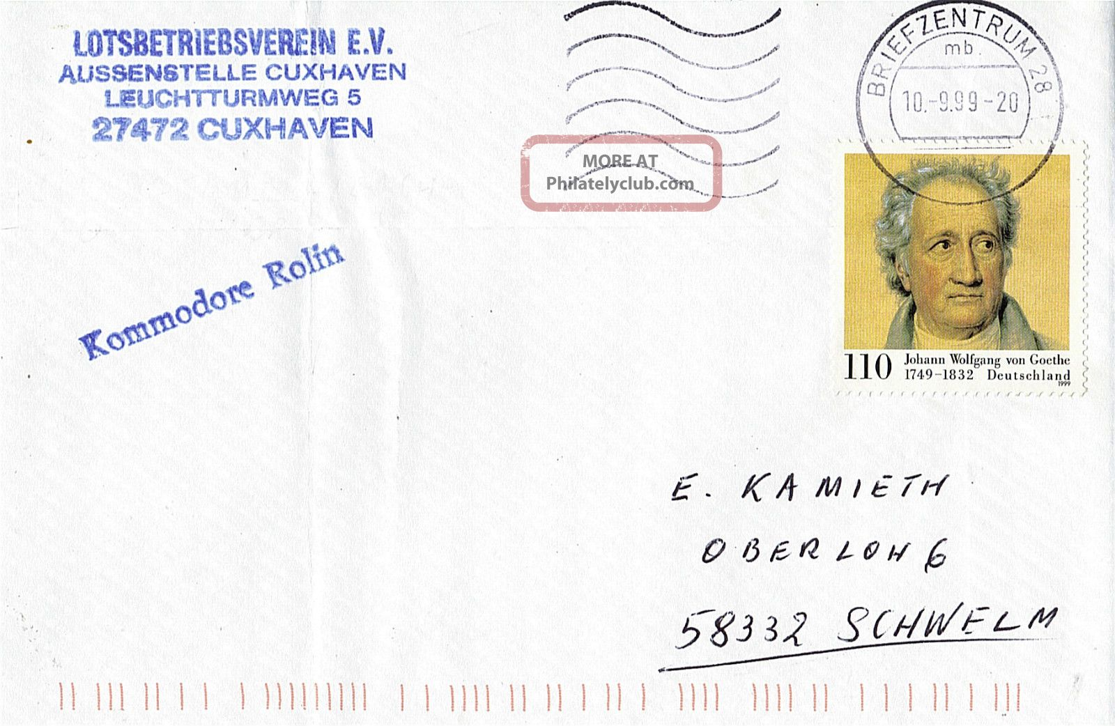 German Pilot Ship Ls Kommodore Rolin Ships Cached Cover Europe photo