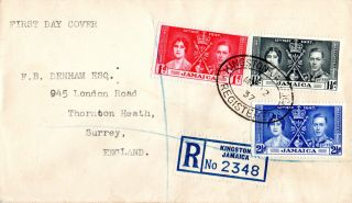 Jamaica 12 May 1937 Coronation First Day Cover photo