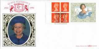 1996 Queens 70th Birthday Label Benham Blcs116 First Day Cover Bruton St Shs photo