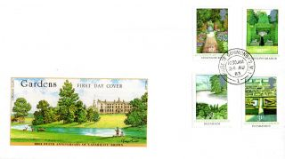 24 August 1983 British Gardens Philart First Day Cover House Of Commons Sw1 Cds photo