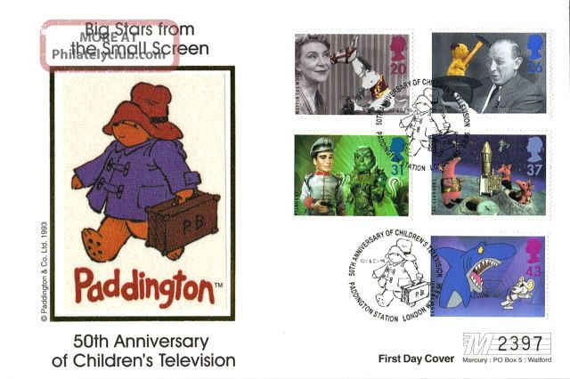 3 September 1996 Childrens Tv Characters Mercury Limited Ed First Day Cover Shs Topical Stamps photo