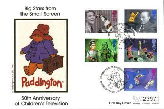 3 September 1996 Childrens Tv Characters Mercury Limited Ed First Day Cover Shs photo