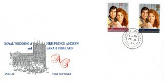 22 July 1986 Royal Wedding Philart First Day Cover House Of Lords Sw1 Cds photo