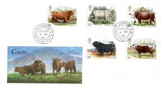 6 March 1984 British Cattle Philart First Day Cover House Of Commons Sw1 Cds photo