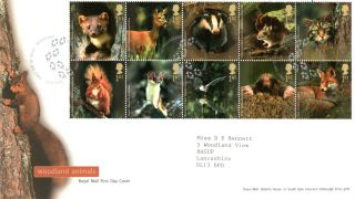 16 September 2004 Woodland Animals Rm First Day Cover Bishop Auckland Shs photo