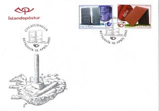 Iceland 2002 Modern Art Unaddressed First Day Cover Shs photo
