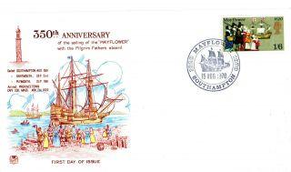 15 August 1970 Mayflower Stuart Commemorative Cover Southampton Shs photo