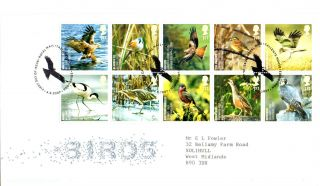 4 September 2007 Uk Species In Recovery Birds Rm First Day Cover Bureau Shs photo