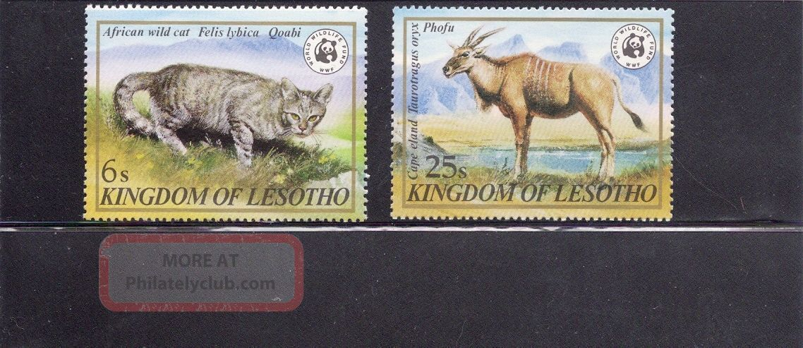 Lesotho 1982 Wildlife Scott 351,  353 Never Hinged Animal Kingdom photo