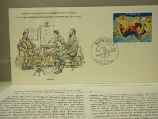 Monaco World Art Stamp 1st Day Cover 1980 Trois Personnages Dans Un Pre,  Derain photo