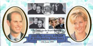 15 June 1999 Royal Wedding With Wedding Day & Gibraltar Benham Fdc Shs photo
