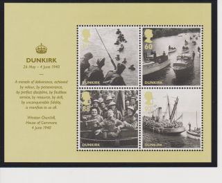Great Britain Dunkirk / Britain Alone Sheet Of 4 2010 Issue photo