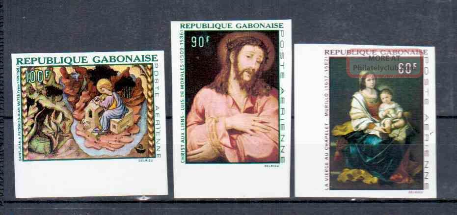 Gabon Paintings Imperf. Topical Stamps photo
