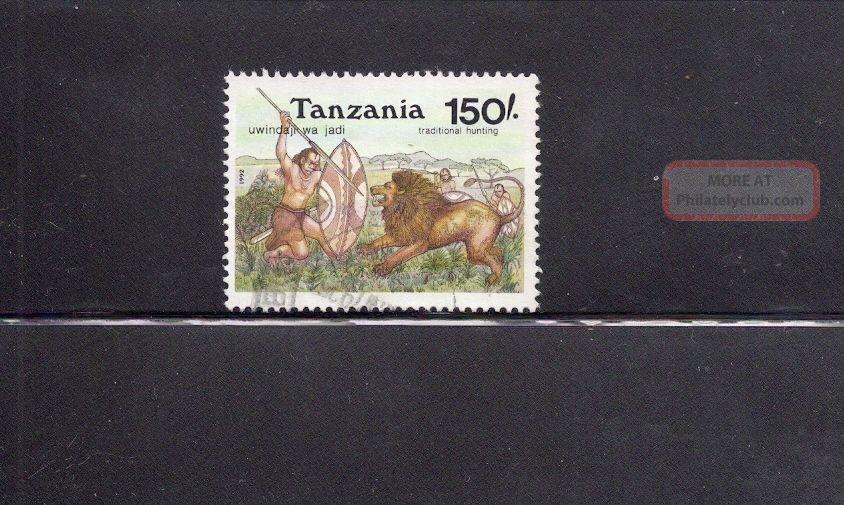 Tanzania 1992 Lion Hunting Scott 938 Animal Kingdom photo