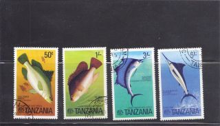Tanzania 1977 Fish Scott 66 - 90 Cancelled photo