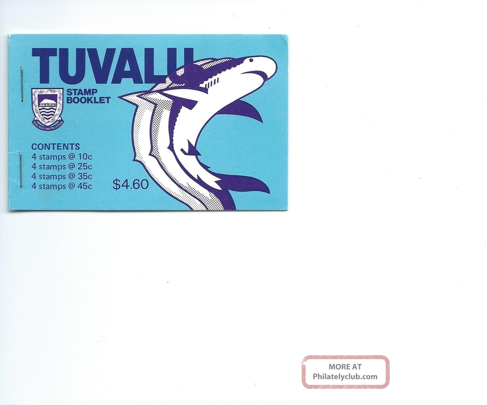 Tuvalu 1979 Booklet Fishes Animal Kingdom photo