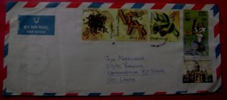 Sri Lanka (ceylon) =.  Air Lettere Cover From India. photo
