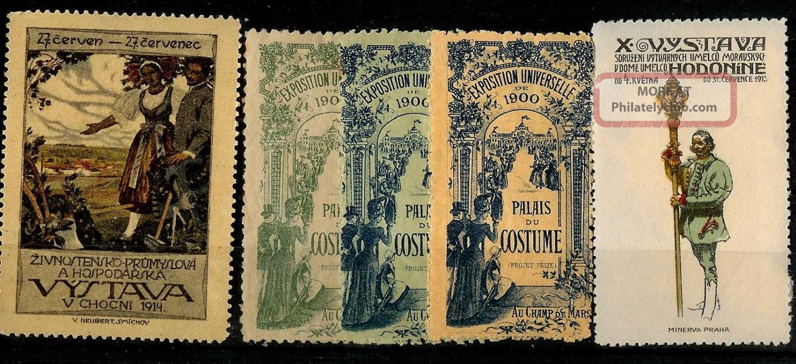 Four Poster Stamos: France 1900,  2 From Bohemia 1914 In Fine Cond. Europe photo