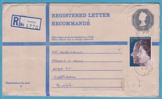 Qeii Postal History – 1972 3p Up - Rated Large 23p Registered Mccorquodale Pse photo
