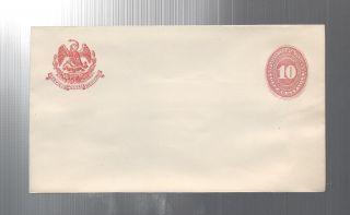 Mexico 10c Postal Stationery Envelope 1880 ' S photo