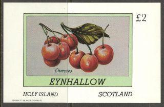 Eynhallow (br.  Local) 1982 Fruits Berries Cherries S/s 2£ Ne114 photo