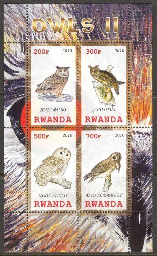 2010 Birds Owls Ii Sheet Of 4 photo