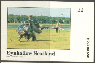 Eynhallow (br.  Local) 1982 Aviation Vii Helicopter S/s 2£ Ne088 photo