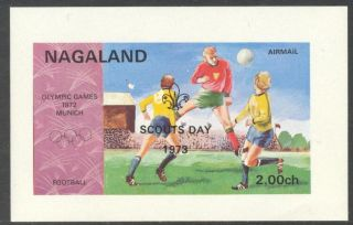 Nagaland Olympic Games Munich 1972 Soccer Overp.  Scouts Day 1973 S/s Nn008 photo