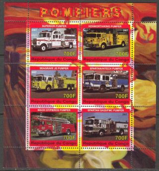 2007 Fire Trucks Engines I Sheet Of 6 photo