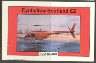 Eynhallow (br.  Local) 1982 Aviation Viii Helicopter S/s 2£ Ne089 photo