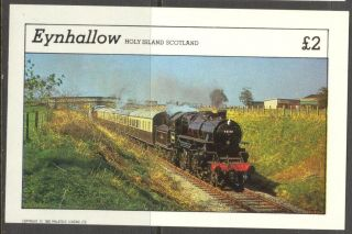 Eynhallow (br.  Local) 1982 Trains Locomotives I S/s 2£ Ne112 photo