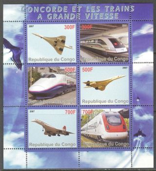 2007 Modern Trains Aviation Concorde Sheet Of 6 photo