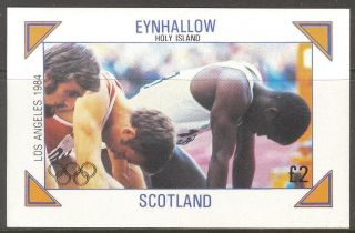 Eynhallow (br.  Local) Olympic Games Los Angeles 1984 S/s 2£ Ne119 photo