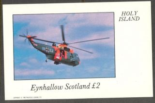 Eynhallow (br.  Local) 1982 Aviation Airplanes Vi Helicopter S/s 2£ Ne087 photo