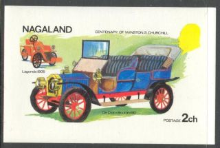 Nagaland 1974 Centenary Of W.  S.  Churchill Old Cars Ii S/s Nn001 photo