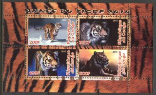 2010 Year Of The Tiger Sheet Of 4 photo