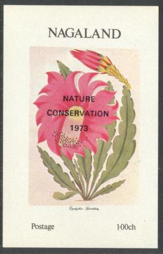 Nagaland 1973 Flowers Overpr.