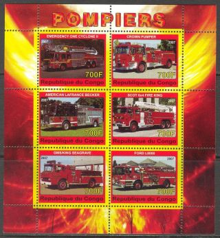 2007 Fire Trucks Engines Ii Sheet Of 6 photo