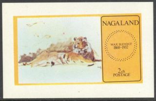 Nagaland 1972 Tiger S/s Nn013 photo