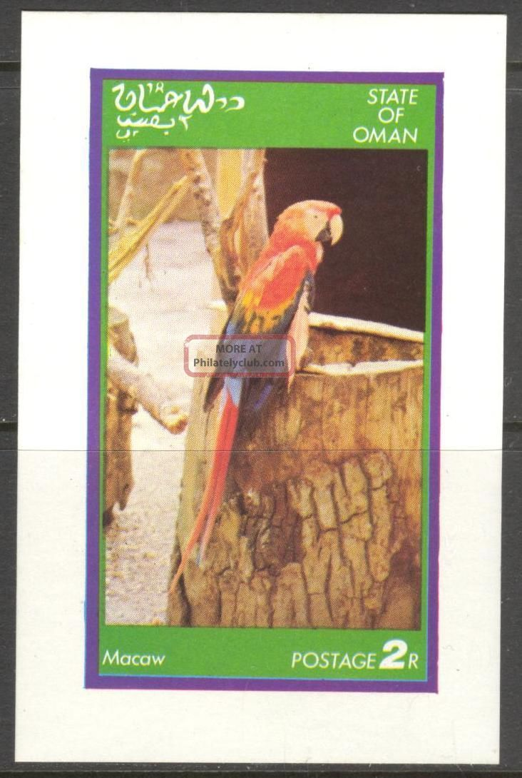 Oman Birds Parrot I S/s No016 Specialty Philately photo