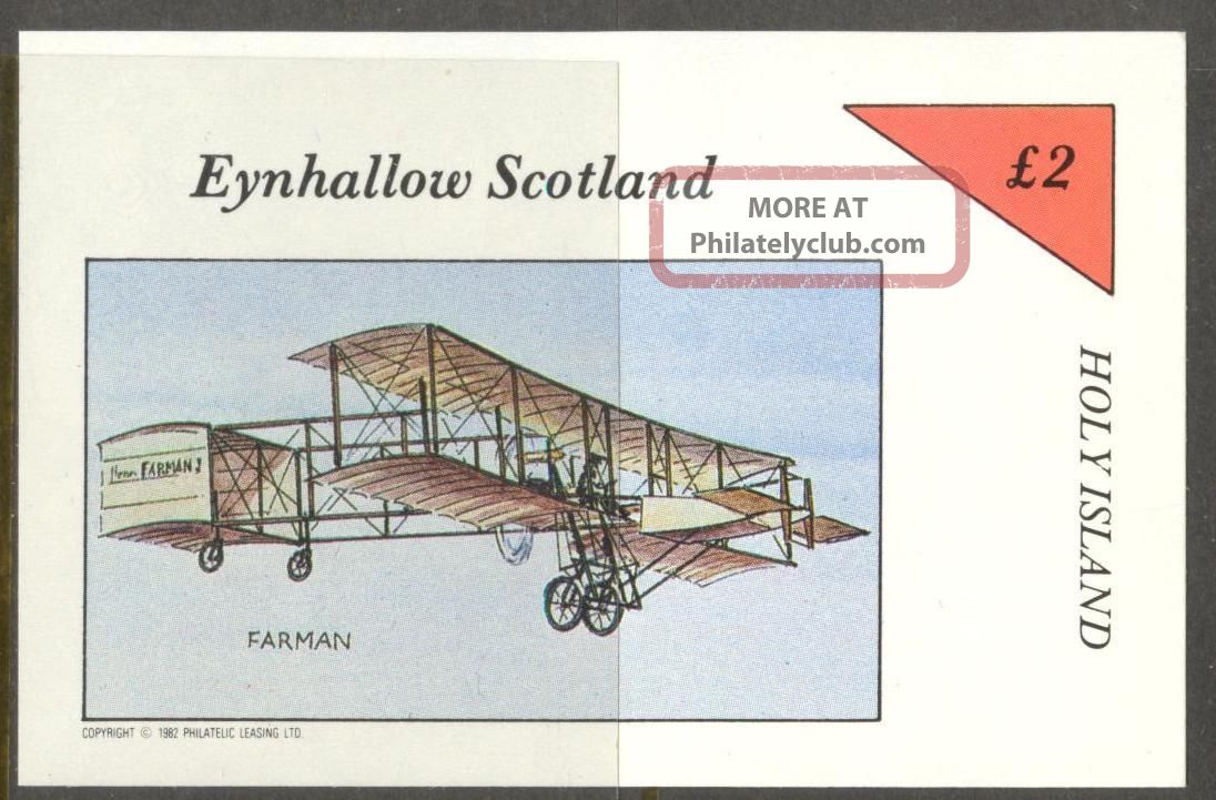 Eynhallow (br.  Local) 1982 Aviation Airplanes Iv S/s 2£ Ne085 Specialty Philately photo