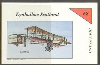 Eynhallow (br.  Local) 1982 Aviation Airplanes Iv S/s 2£ Ne085 photo