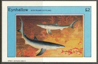 Eynhallow (br.  Local) 1982 Fishes Sharks S/s 2£ Ne079 photo